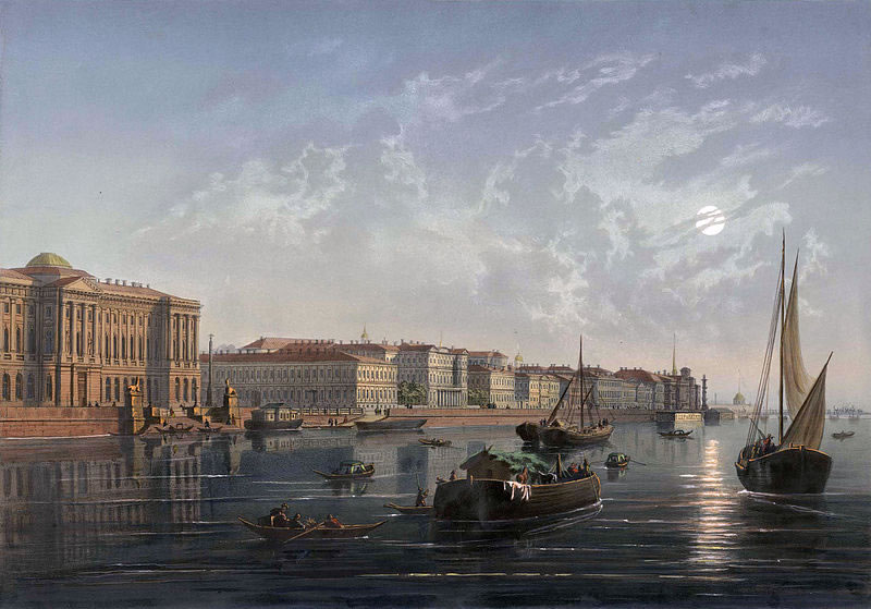 File:Universitetskaya Embankment, 19th century.jpg